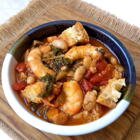 Smoky Shrimp Ribollita for #Soupapalooza - Teaspoon of Spice   Two ...