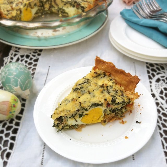 Egg & Swiss Chard Italian Easter Pie Recipe - Teaspoon of Spice