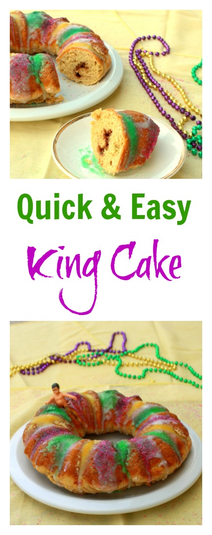 Quick and Easy King Cake - Teaspoon of Spice | Two Dietitians Who Love ...