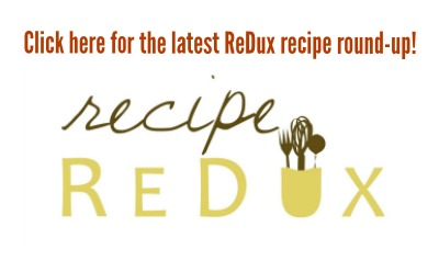 Recipe ReDux linky logo - Lower-Sugar Ginger Peach Crisp with Libby's (sponsored)