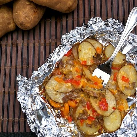 Philly Cheesesteak Potato Packets