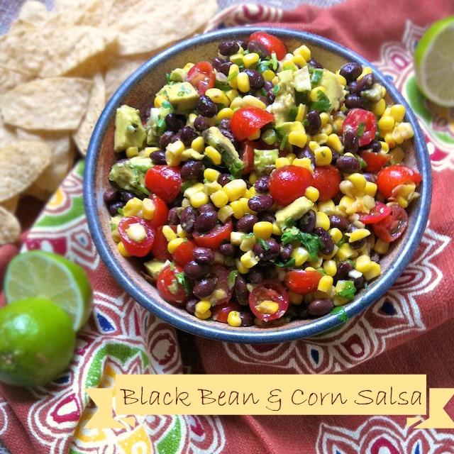 Black Bean & Corn Salsa   Teaspoonofspice.com