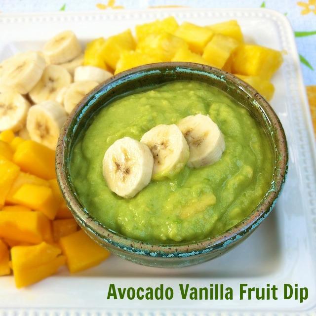 Avocado Vanilla Fruit Dip   Teaspoonofspice.com