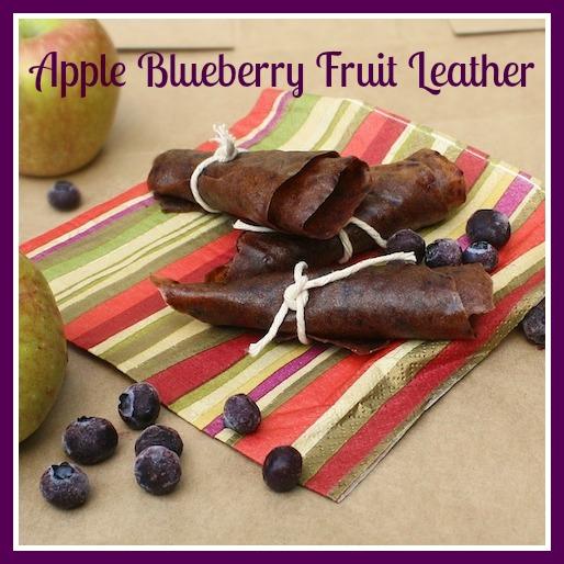 Apple Blueberry Fruit Leather
