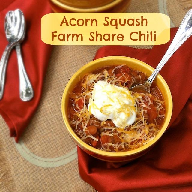 Acorn Squash Farm Share Chili   TeaspoonofSpice.com