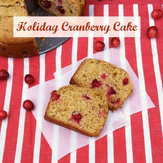 Holiday Cranberry Cake   TeaspoonofSpice.com