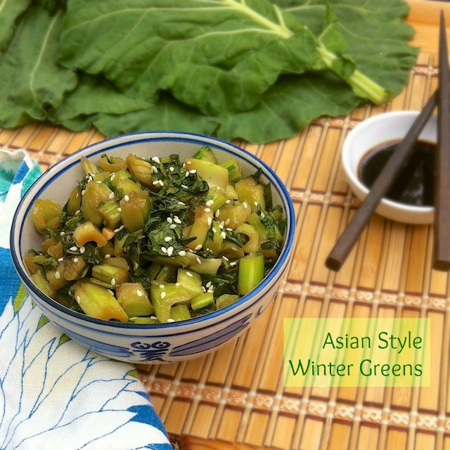 Asian Style Winter Greens | Teaspoonofspice.com