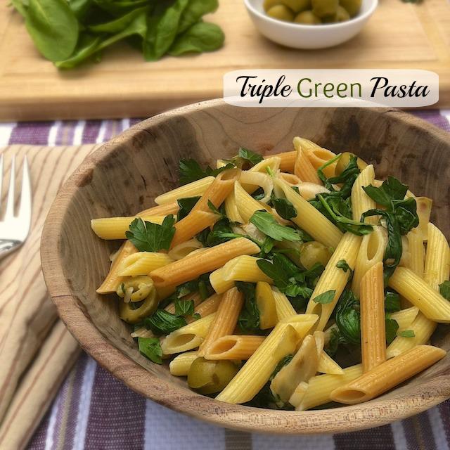 Triple Green Pasta | Teaspoonofspice.com