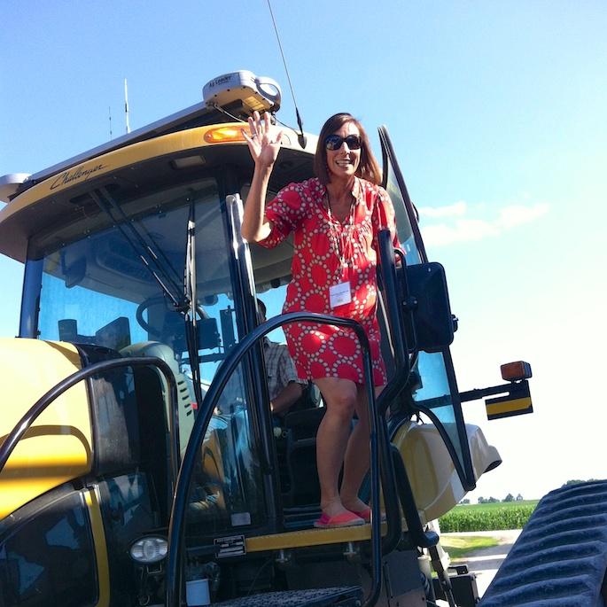 Soy Field Tractor Ride | Teaspoonofspice.com