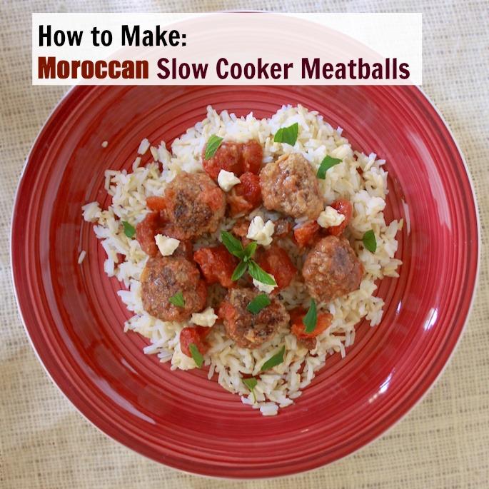 Moroccan Slow Cooker Meatballs | Teaspoonofspice.com