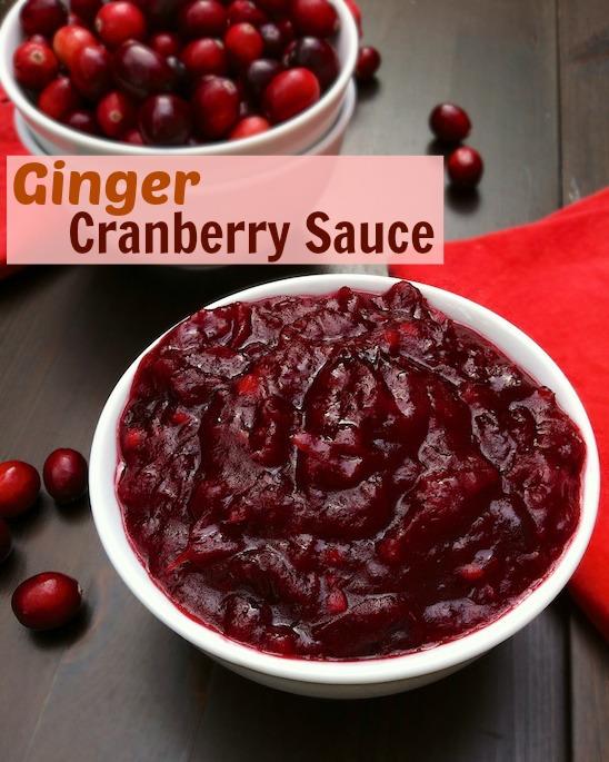 Ginger Cranberry Sauce   Teaspoonofspice.com