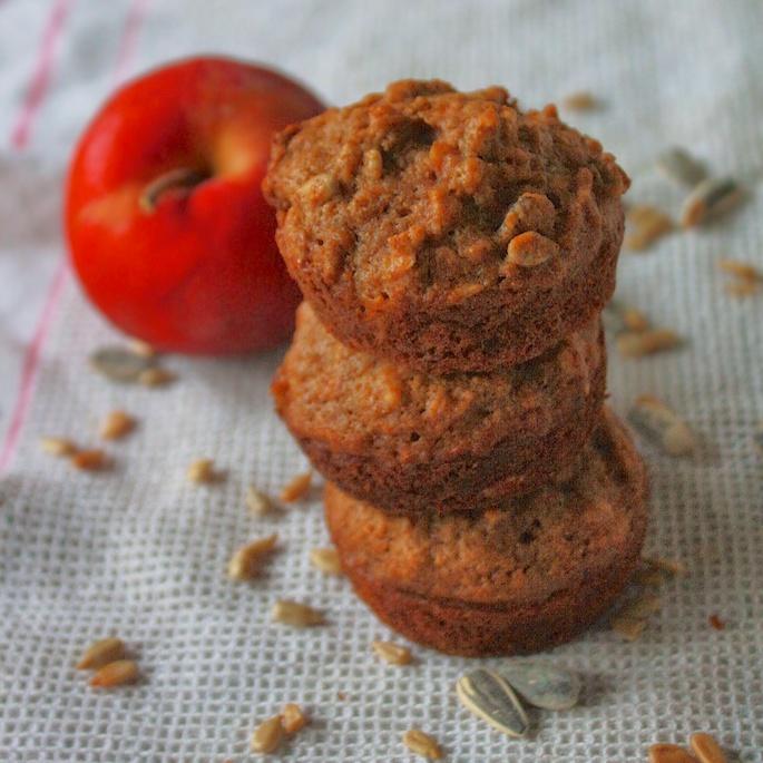Sunflower Seed Apple Muffins   Teaspoonofspice.com