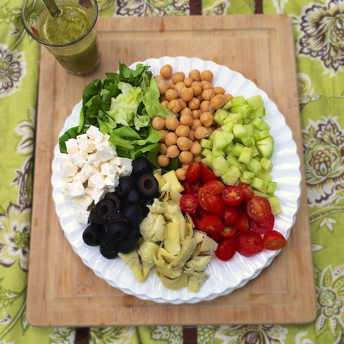 Chopped Greek Antipasto Salad   Teaspoonofspice.com