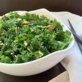 Raw Kale Salad with Pistachios   Teaspoonofspice.com