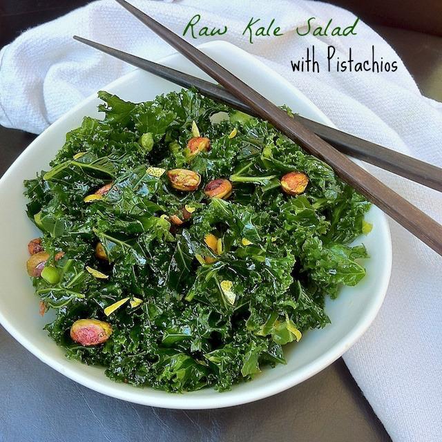 Fresh Kale Salad with Pistachios