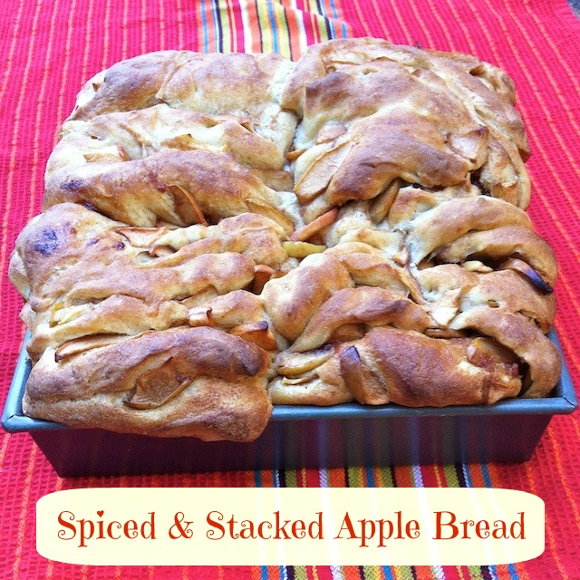 Spiced and Stacked Apple Bread