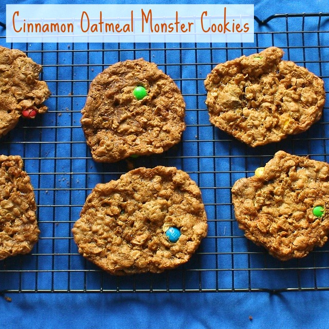 Cinnamon Oatmeal Monster Cookies