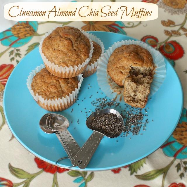 Cinnamon Almond Chia Seed Muffins