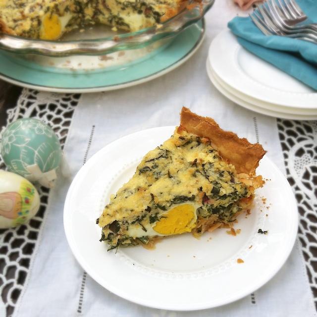 Egg and Swiss Chard Italian Easter Pie