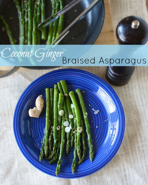 Coconut Ginger Braised Asparagus