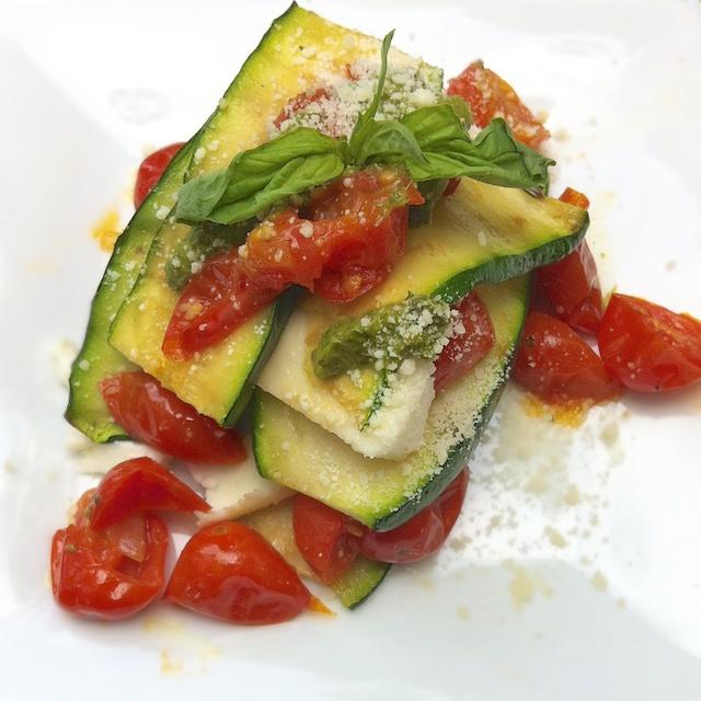 Summer Zucchini Tomato Lasagna