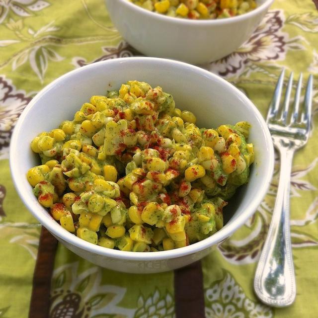 Corn Avocado Salad with Honey Lime Vinaigrette