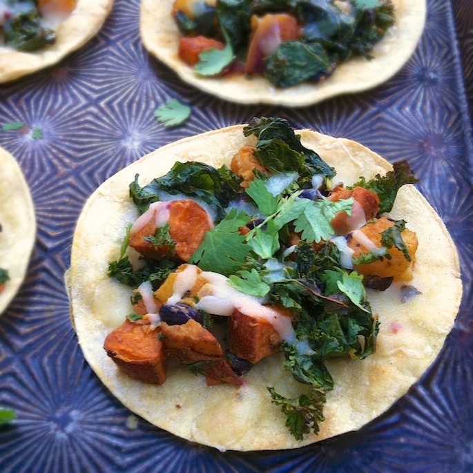 Sweetpotato Kale Tostadas | The Recipe ReDux