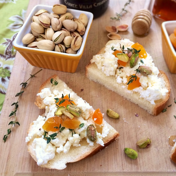 Pistachio, Apricot Ricotta Challah Toasts – The Recipe ReDux