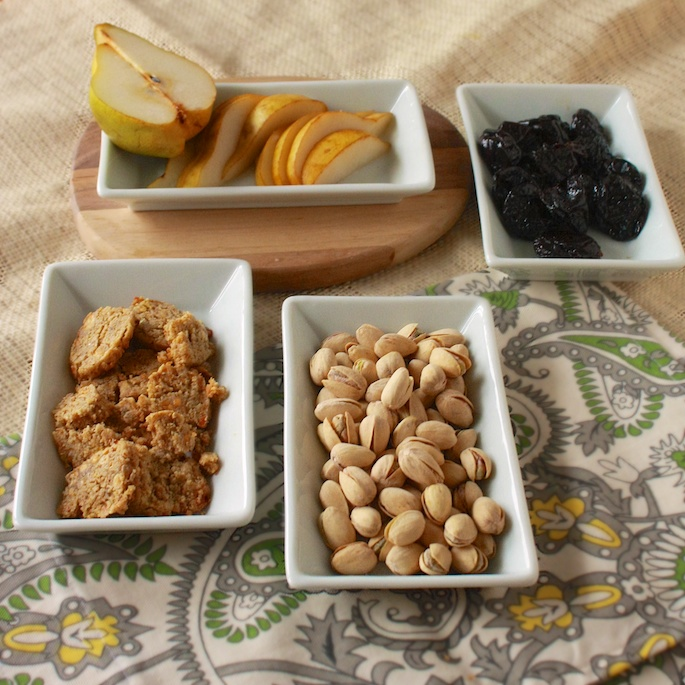 Pistachios, Dried Plums, Pears and Blue Cheese Crackers | The Recipe ReDux