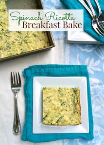 Spinach Ricotta Breakfast Bake   Teaspoonofspice.com
