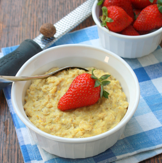 5-Minute Oatmeal Breakfast Custard | The Recipe ReDux