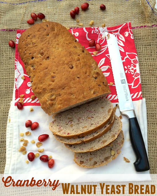 A special holiday yeast bread featuring cranberries, walnuts and black pepper.
