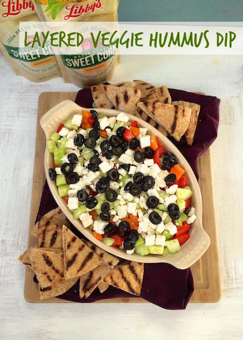 Loaded Veggie Hummus Dip | Teaspoonofspice.com