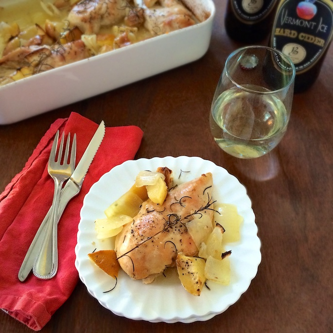 Use apple cider in your cooking like with this easy roasted chicken recipe for your next family dinner. Recipe at Teaspoonofspice.com