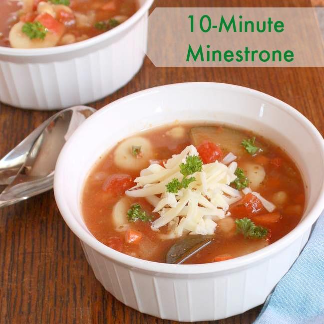 10-Minute Minestrone   TeaspoonOfSpice.com