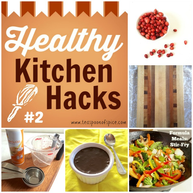 #HealthyKitchenHacks 2: Deseed a Pomegranate, Clean Your Wooden Boards, No Bake Chocolate Pudding,  How To Measure Sticky Ingredients, Formula Meals