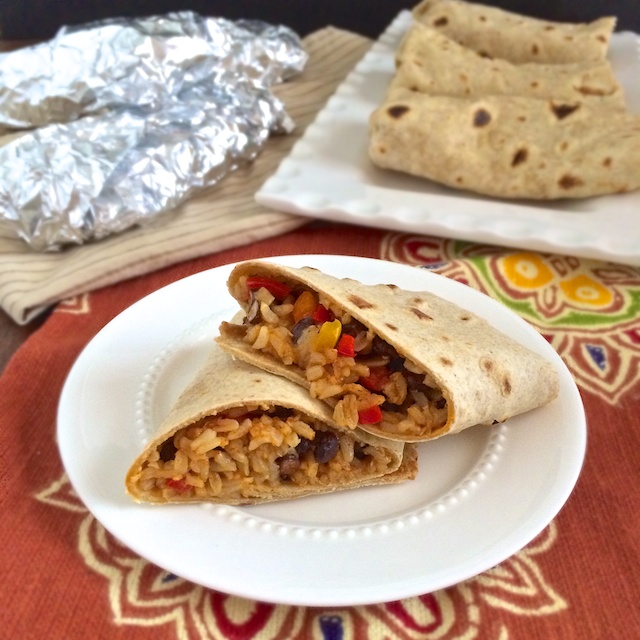 Healthy Homemade Frozen Burritos | Teaspoonofspice.com @tspbasil