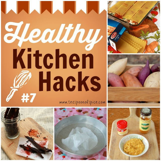 #HealthyKitchenHacks: How To Use Regular Lasagna Noodles in No Boil Recipes, How to Keep Potatoes from Sprouting, How to Make Homemade Jerky, How to Keep Parchment from Rolling Up, 5 Minute Mustard via @tspcurry