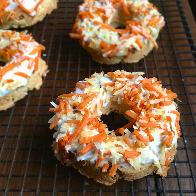Carrot Coconut Baked Donuts