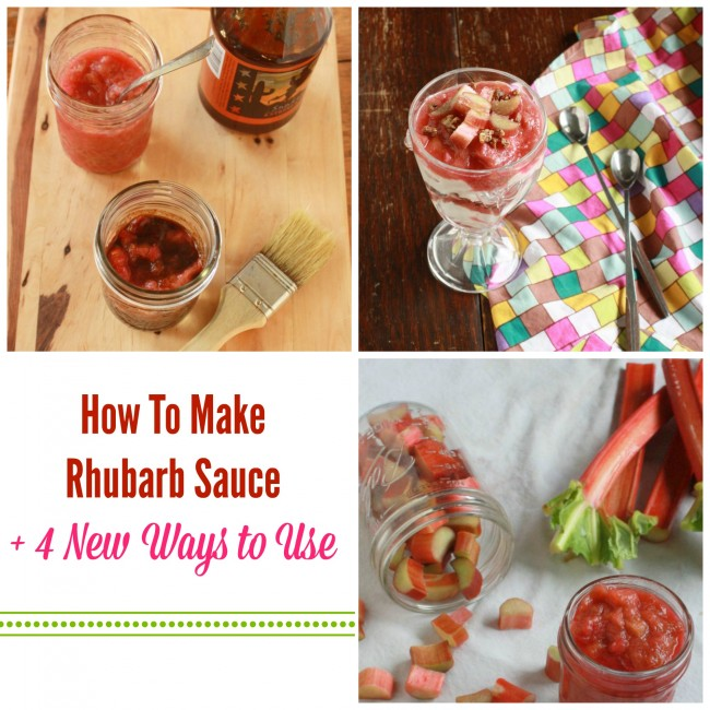 How To Make Rhubarb Sauce + 4 New Ways to Use