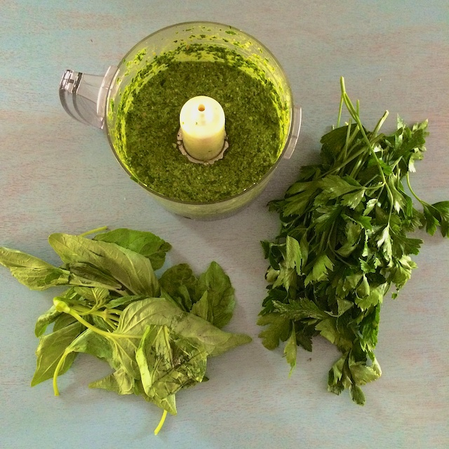 #HealthyKitchenHacks- How to Use Up Wilted Greens & Herbs @tspbasil