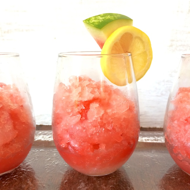 Watermelon Lemonade Slushies