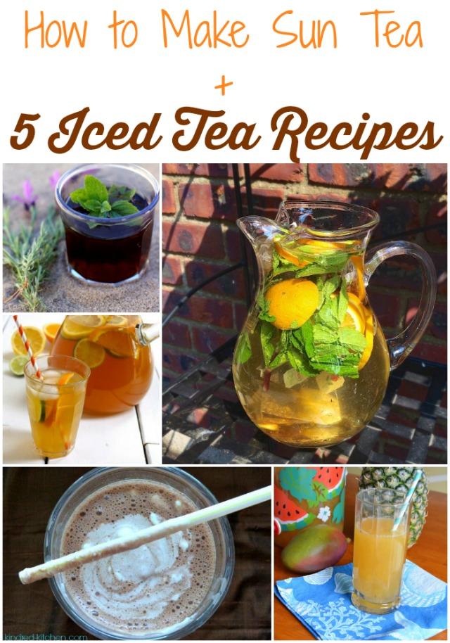 How To Make Sun Tea plus 5 Ice Tea Recipes @tspbasil