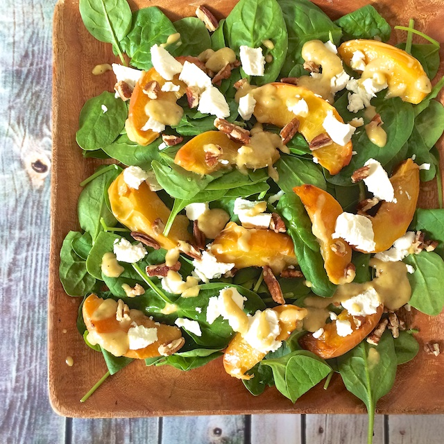 Roasted Peach Salad