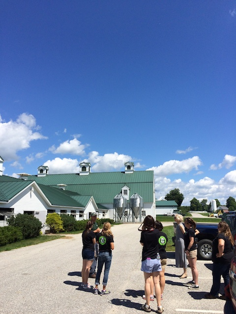 2015 Cabot Fit Team visits Pineland Farms