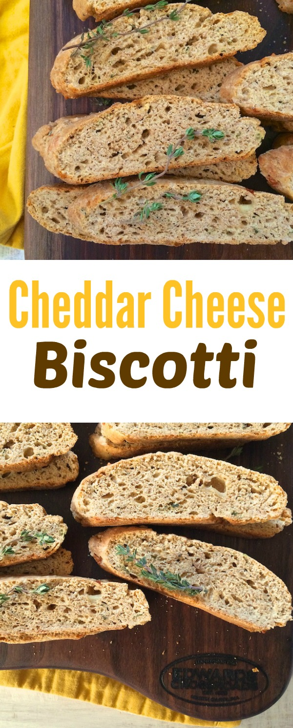 Instead of crackers, try this savory version of the Italian cookie. Cheddar cheese biscotti pair well with soup, chili and cheese platers. @tspbasil