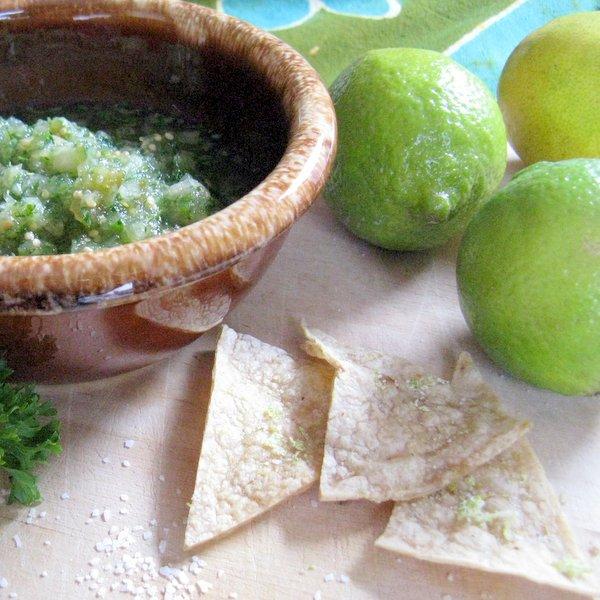 Homemade Lime Salt Tortilla Chips | @TspCurry