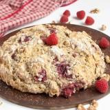 Raspberry Walnut Irish Soda Bread | @TspCurry