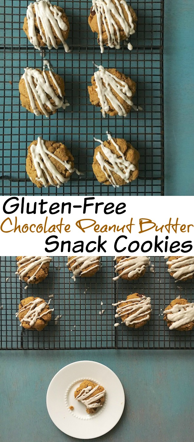 A gluten-free chocolate peanut butter cookie that you can enjoy as a snack - dietitian approved! @tspcurry