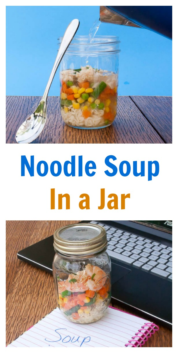 Fresh and easy to prep-ahead for lunch: Noodle Soup in a Jar | @tspcurry DIY instant noodles